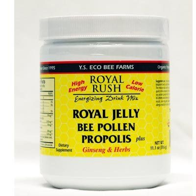 The Product Royal Rush Energizing Drink Mix, Royal Jelly, Bee Pollen, Propolis Plus Ginseng & Herbs, 11.0 oz (312 g)  Can Be Found At - http://vitamins-minerals-supplements.co.uk/product/royal-rush-energizing-drink-mix-royal-jelly-bee-pollen-propolis-plus-ginseng-herbs-11-0-oz-312-g/