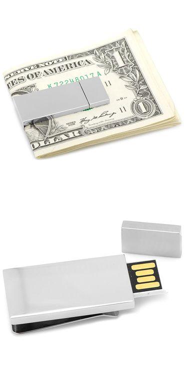 Silver 8GB USB Flash Drive Money Clip.  머니클립 USB.