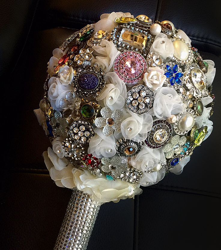 Jeweled Wedding Brooch Bouquet