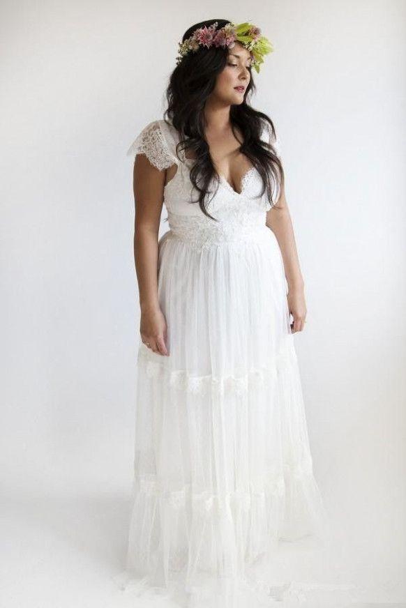 Bohemian Wedding Gowns Plus Size