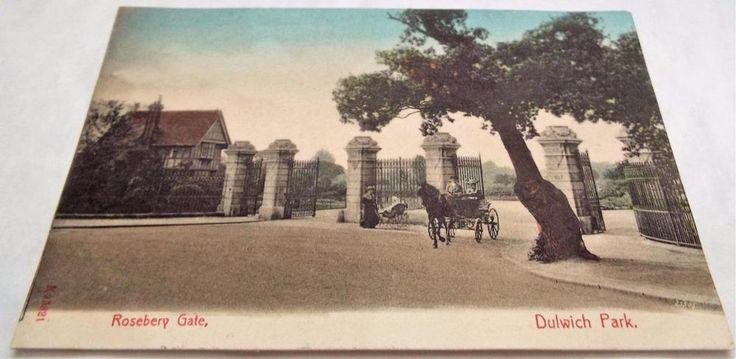 Rosebery Gate - Dulwich Park - Antique Vintage Postcard c1905