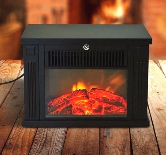 Mini Small #Portable #Electric #Fireplace Free Standing Tabletop Heater 1000W LED