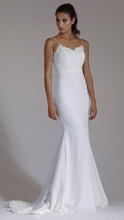 BB1801. This elegant new wedding gown style by Australian designers 'Jadore' in store now. Beautiful lace bodice with sweetheart neckline and slim fitting skirt. Features lace insert into train. All our gowns sell for under $999 and are available for hire too.Visit us in Albany village. Follow us on instagramhttps://www.instagram.com/bridal_and_ball/. See more options onhttp://bridalandball.co.nz/wedding-gowns/classic-br/