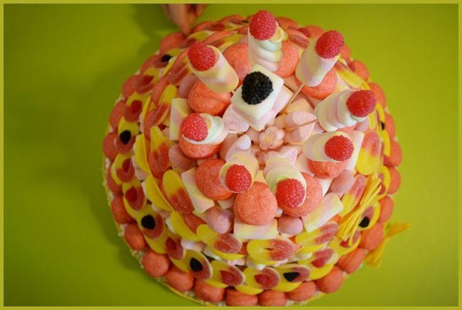 Tweedot blog magazine - torta fai da te fatta di caramelle gommose