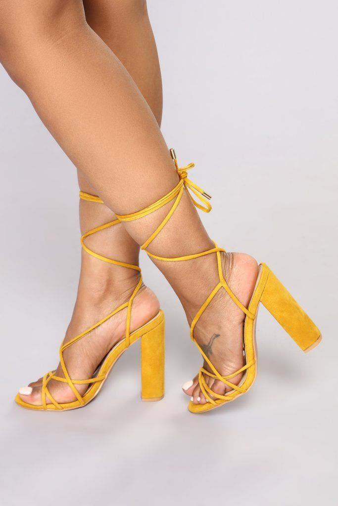 3f005c229c Wrap Her Up Heeled Sandal - Yellow in 2019 | Fashion Nova | Shoes ...