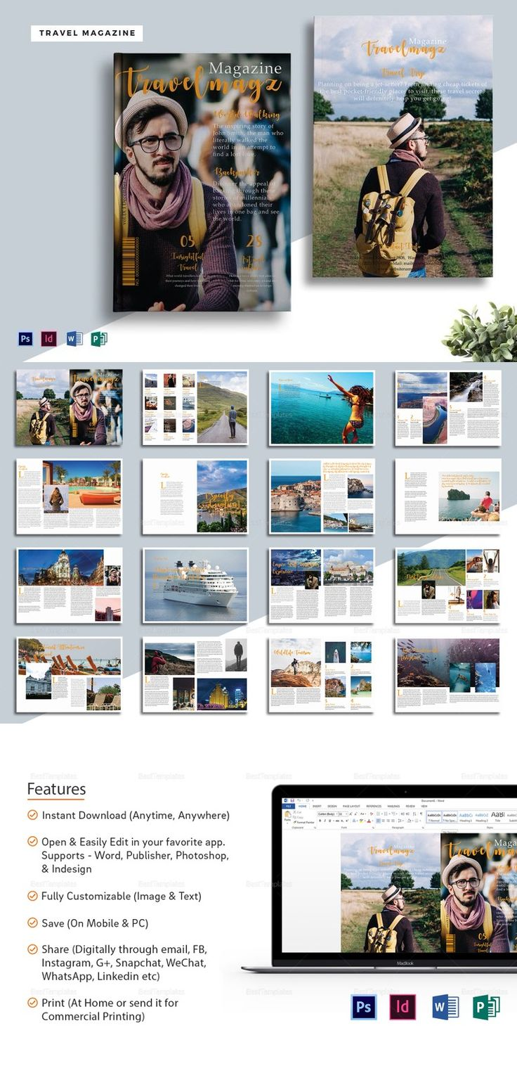printable magazine templates