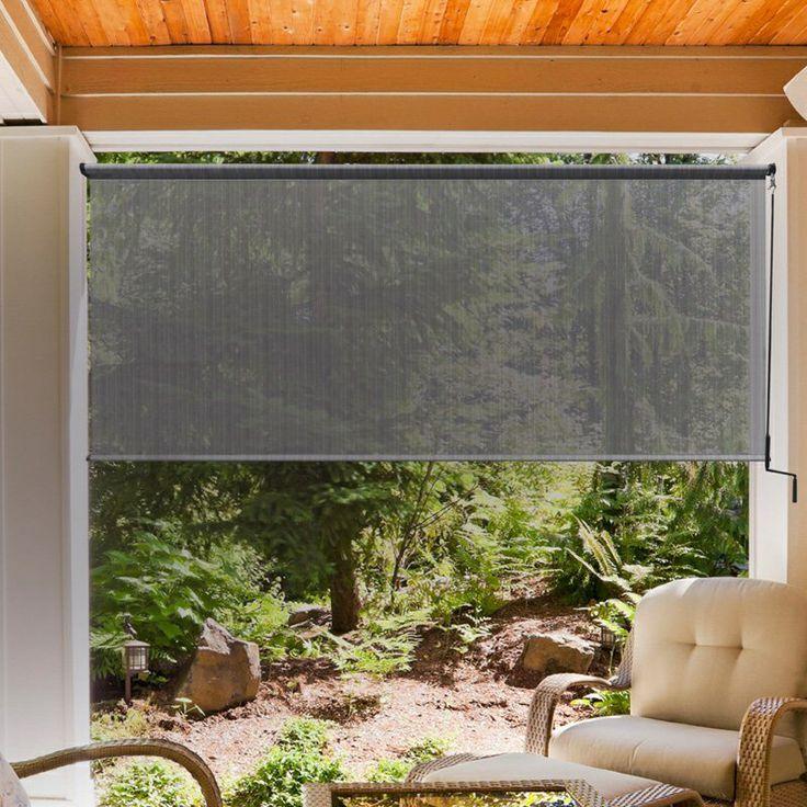 Wind break for deck front backyard landscaping for Garden windbreak designs