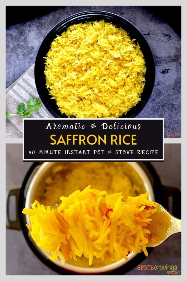 Saffron Rice Pulao Instant Pot Stove Microwave Spice Cravings Recipe Saffron Rice Salad Side Dishes Instant Pot Recipes
