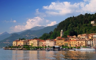 Bellagio peninsula seen from Lake Como #italy #travel #vacation