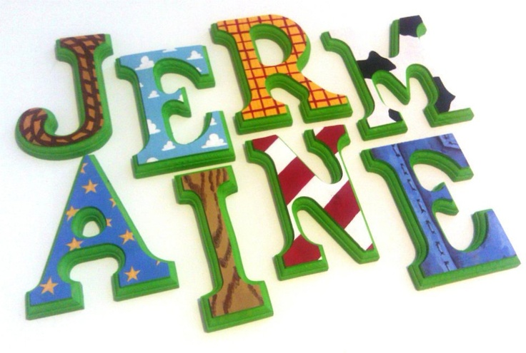 "Toy Story - 6"" Hand painted Wooden Letters"