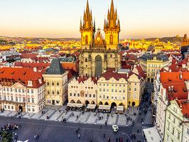 Today's Daily Escape is from Tyn Church located in Prague's Old Town Square.Eastern Europe, Church Locations, Cities, Beautiful Places, Tyn Church, Prague Czech Republic, Travel, Europe 2014, Unbearable Lights