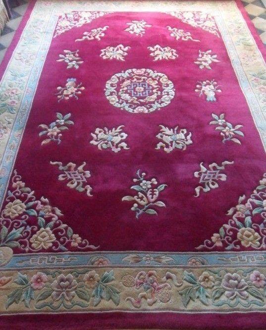 tapis chinois vintage fait main + certificat d'authenticité | eBay