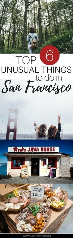 The Top 6 Unusual Things to do in San Francisco California: underrated locations and destinations that you probably don't know about! Click trhough to discover them! | What to do in San Francisco | San Francisco off the beaten path | San Francisco travel