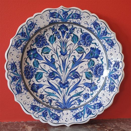 Turkish plate hand-made ceramic.