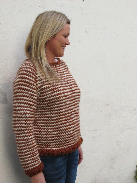 Strikkefeber: Stripete genser i Tjukk Ull