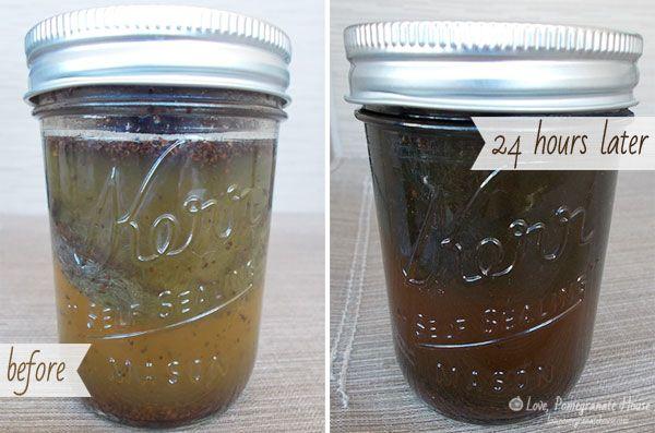 Steel Wool, Coffee Grounds & Vinegar Stain