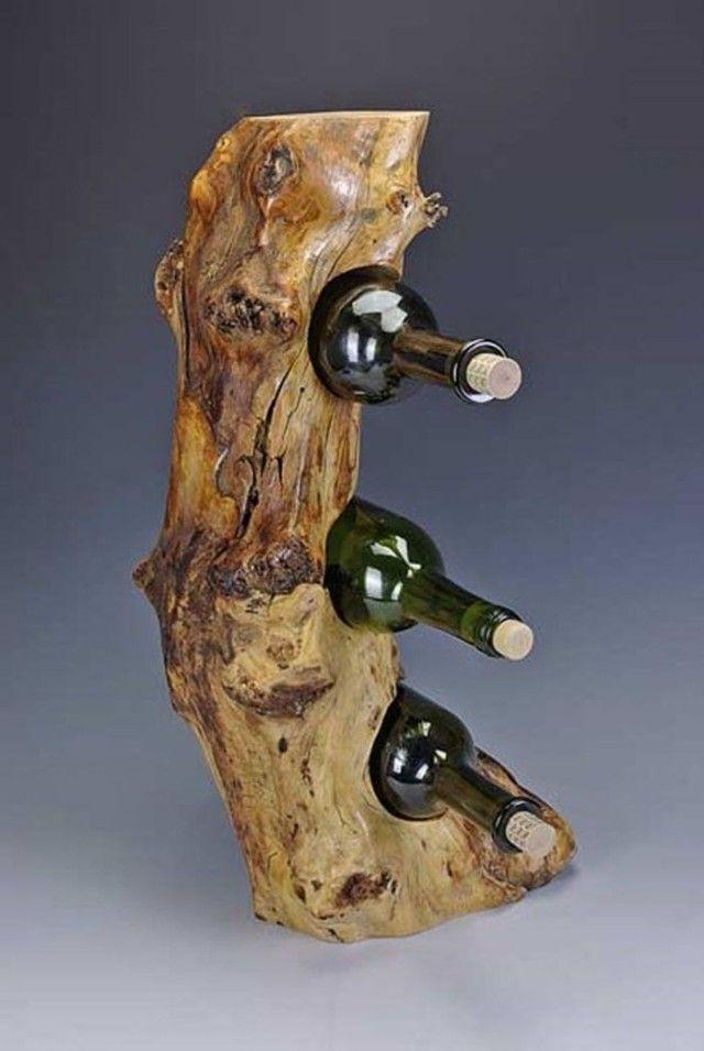 Unique Log Wine Rack