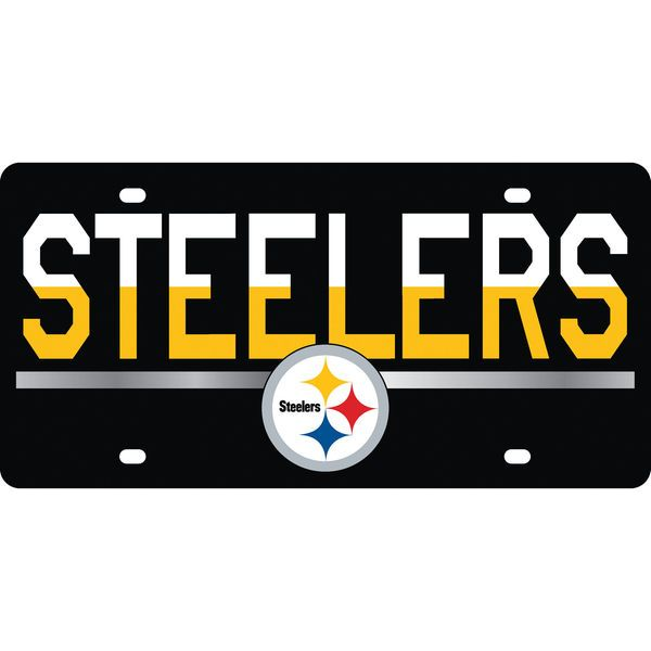 Pittsburgh Steelers DuoTone Color Acrylic License Plate - $29.99