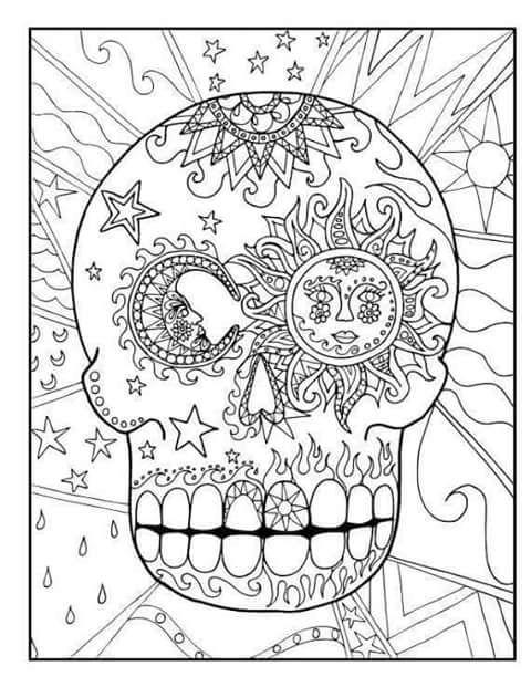 tu tarea: CRANEO PARA COLOREAR | NOVIEMBRE | Pinterest | Coloring ...
