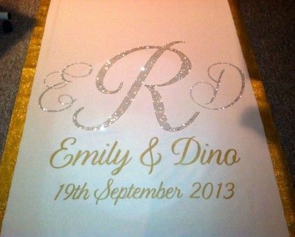 printed wedding runners | Custom Aisle Runner by Customized Wedding Creations
