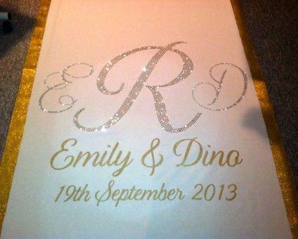 printed wedding runners | Custom Aisle Runner by Customized Wedding Creations