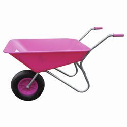 Threeway Bull Barrow Picador Plastic Wheelbarrow - Pink ... want one for a girlfriend who's a garden designer !!!