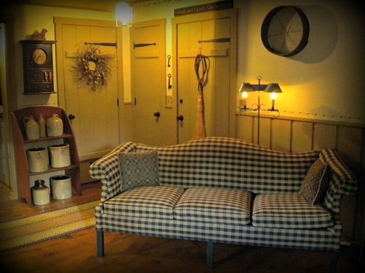 Love the crock bench, the doors and the sofa!