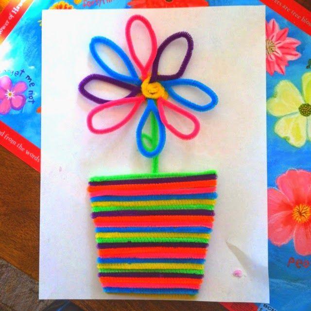 Okulöncesi Sanat ve Fen Etkinlikleri: Şönil -tüylü çubuk- ile Çiçek çalışması