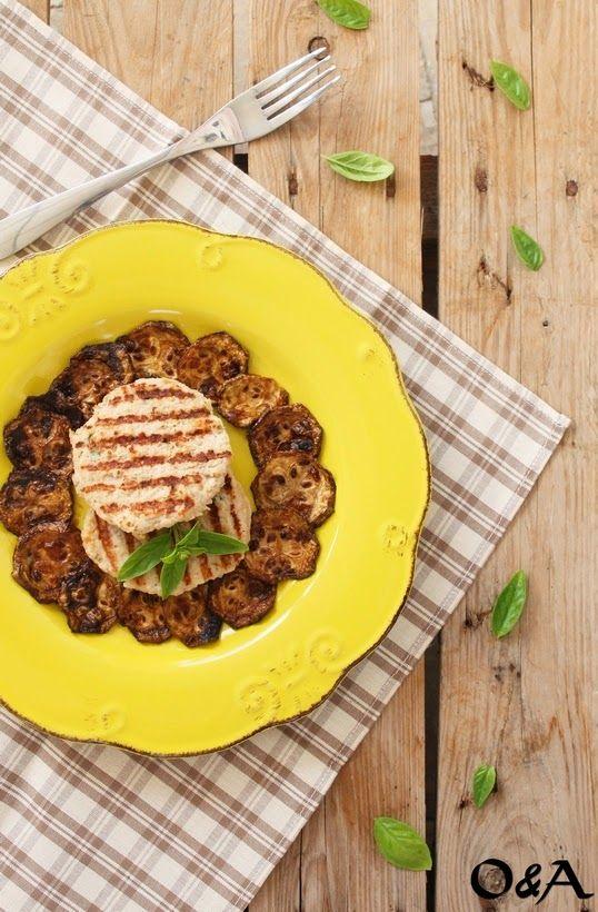 Olio e Aceto: Ricetta hamburger di pollo e zucchine