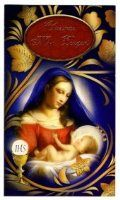 Christmas Mass Bouquet Card - Mary Joseph & Jesus.