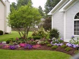 Easy Landscaping Ideas for Front Yard   Front yard landscaping by debora