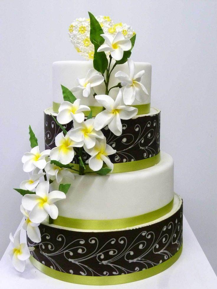 Hochzeits-Torte Frangipani Blüten auf Ja.de
