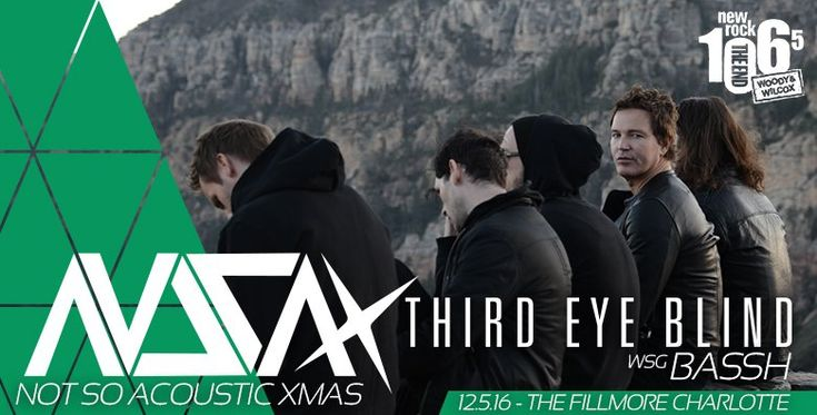 I just entered for a chance to win a pair of tickets to Third Eye Blind at The Fillmore Charlotte!