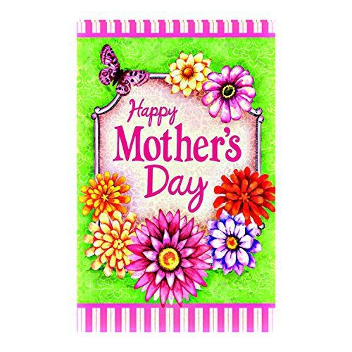 Happy Mother'S Day Garden Flag Including The Metal Stands | Decorative Floral Design Double Sided decorative flags Sides 12.5 x 18 Inch banner home flags Print flags Laugh Love Chalkboard Decorative Double-Sided Garden Flagdecorative flags initial flags party flags 28 x 40 Inch Double Sided banner home flags Print flagsGarden Flags Printed With Two Sides, Sized 12.5″X18″,The Maximum Hole Diameter Is 3.8 cmDurable Flags Made Out Of Polyester That Are Waterproof,Fa