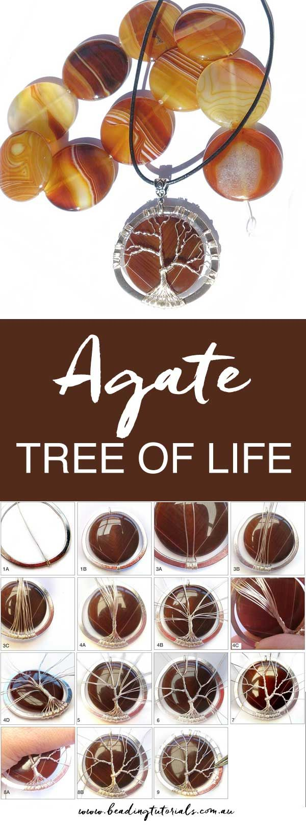 Step-By-Step tree of life pendant tutorial. Good pictures