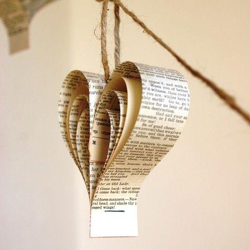 #decorazione #albero #cuore #carta  DIY xmas ornament :) #diy #xmas  ideal para decorar el árbol de navidad #christmas  #xmas #decorations #diy #christmas #natale #idea #facile #faidate #easy #todo