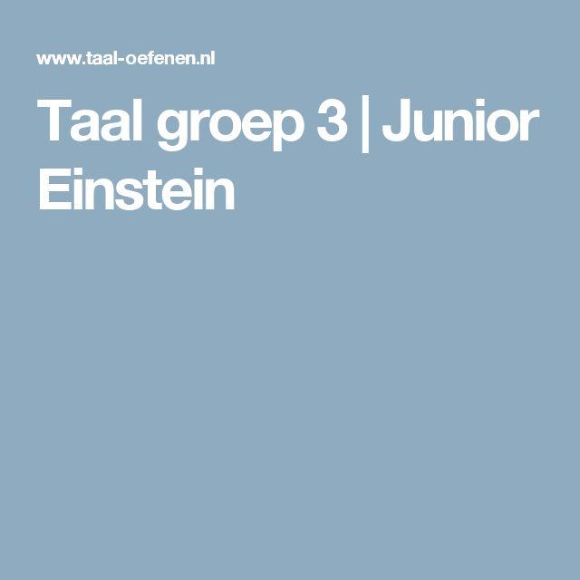 Taal groep 3   Junior Einstein