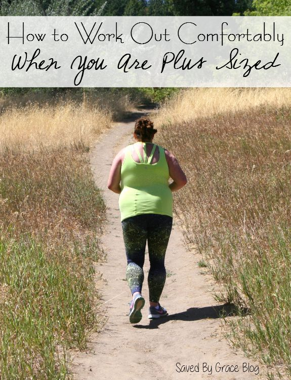How to Work Out Comfortably When You Are Plus Sized with tips on how to get have less pain when exercising as well as how to cut down pain set-backs.