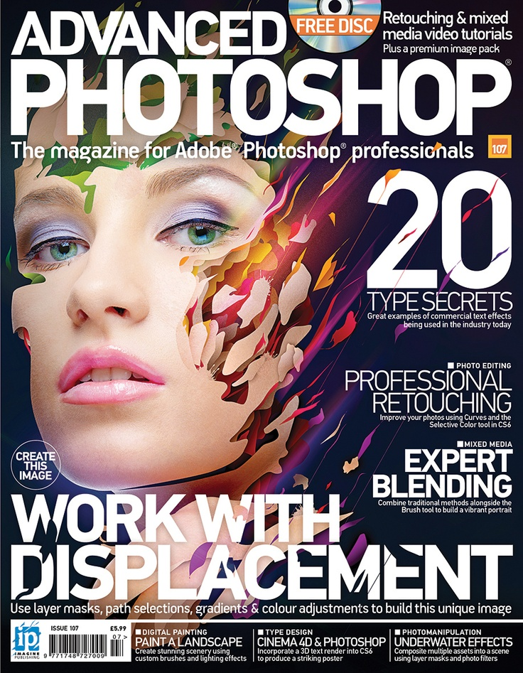 Issue 107 shows once again how professional effects can be made easy. Professional retouching, underwater effects and fantasy light effects are all explored in detail. You'll also discover how to make smoke brushes and textures by shooting ink in our Resource Project. Find out more here: http://blog.advancedphotoshop.co.uk/general/advanced-photoshop-magazine-issue-107-out-now/