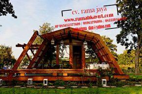 jual rumah kayu unik minimalis