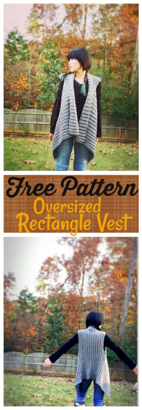 Free Pattern! Easy oversized rectangle vest