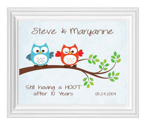 10th ANNIVERSARY PRINT Anniversary Gift For By KreationsbyMarilyn 1500