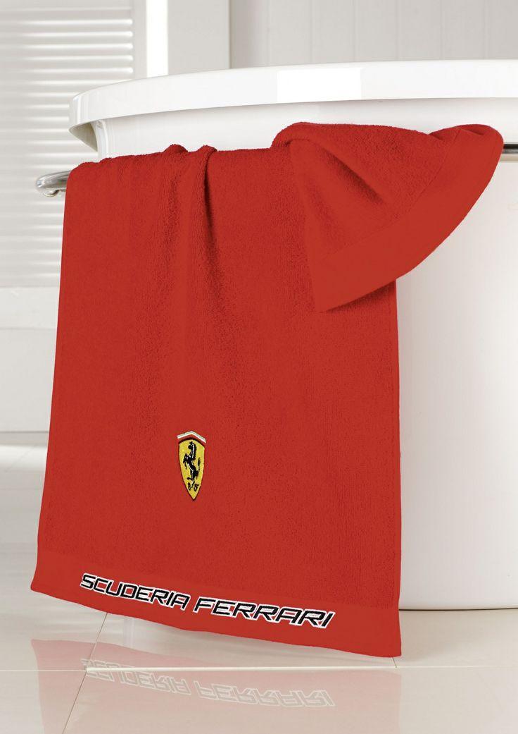 Oryginal Ferrari bath towel red / Oryginalny ręcznik ferrari