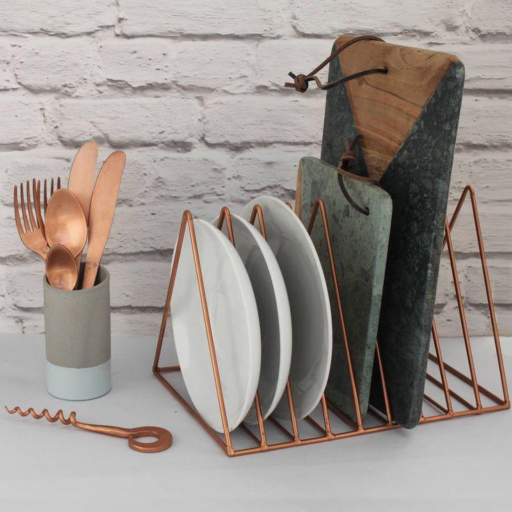 Copper Plate Rack