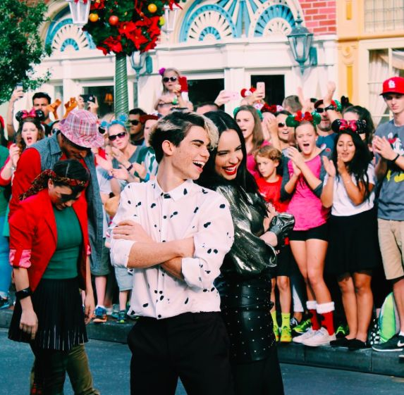 Sofia Carson and Cameron Boyce // Disney Descendants Magical Holiday Celebration