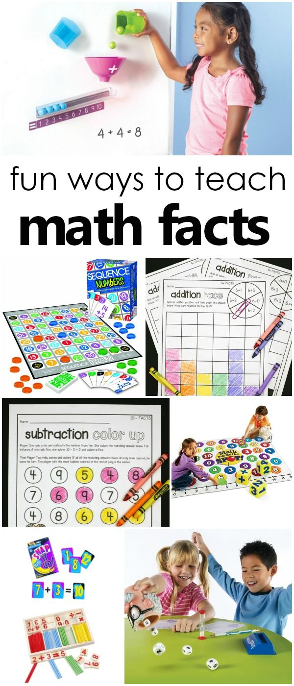 Fun Ways To Learn Addition And Subtraction Math Facts Fantastic Fun Learning Math Facts Math Fact Games Math Facts Addition How to teach addition math facts