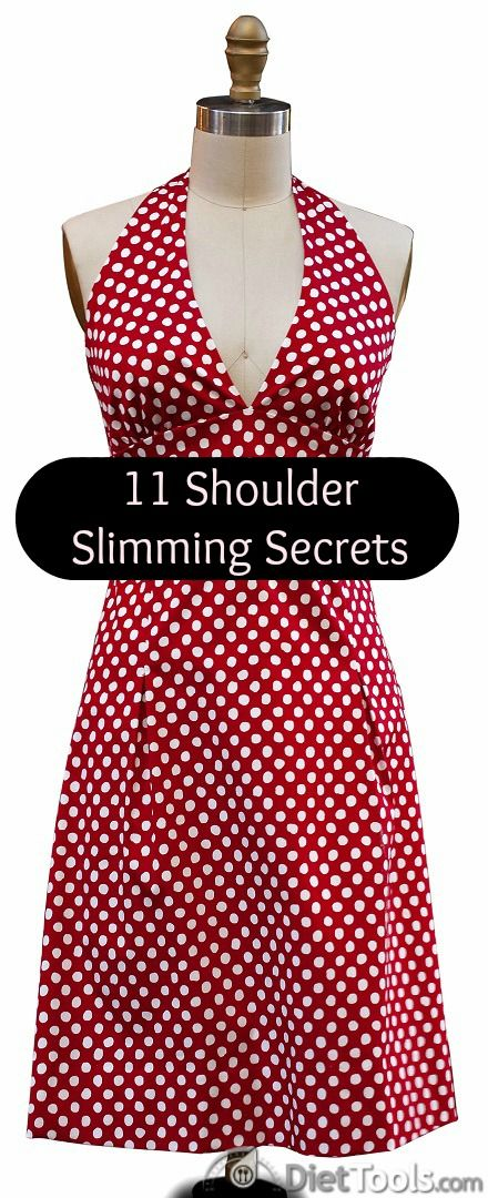 These simple secrets help broad shouldered women look slim, trim and sexier than ever!