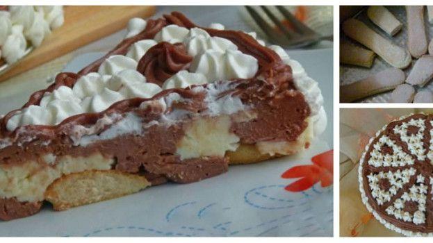 Nepečená smotanovo – čokoládová torta