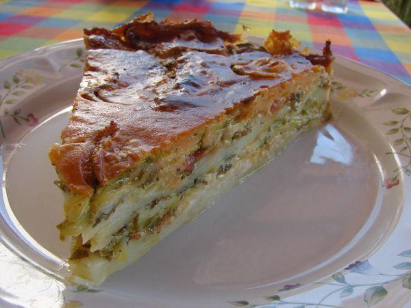 Boureki...another Cretan dish... layers of zucchini, fresh myzithra goat's…