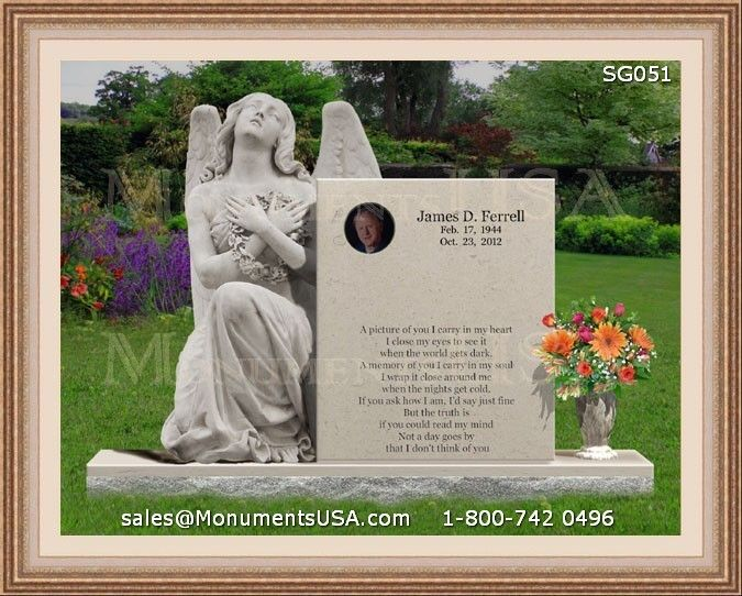 Grave Markers Headstones For One Person | Tombstone Designs For One